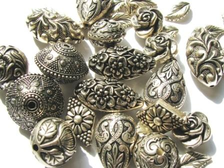 Silber perlen  House of Beads - Metallisierte Perlen